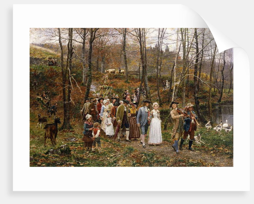 A Wedding Procession, 1879 by Marie Francois Firmin-Girard