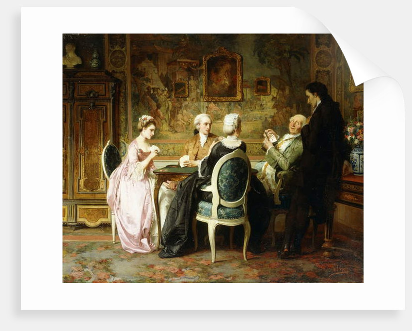 The Card Game by Carl Heinrich Hoff