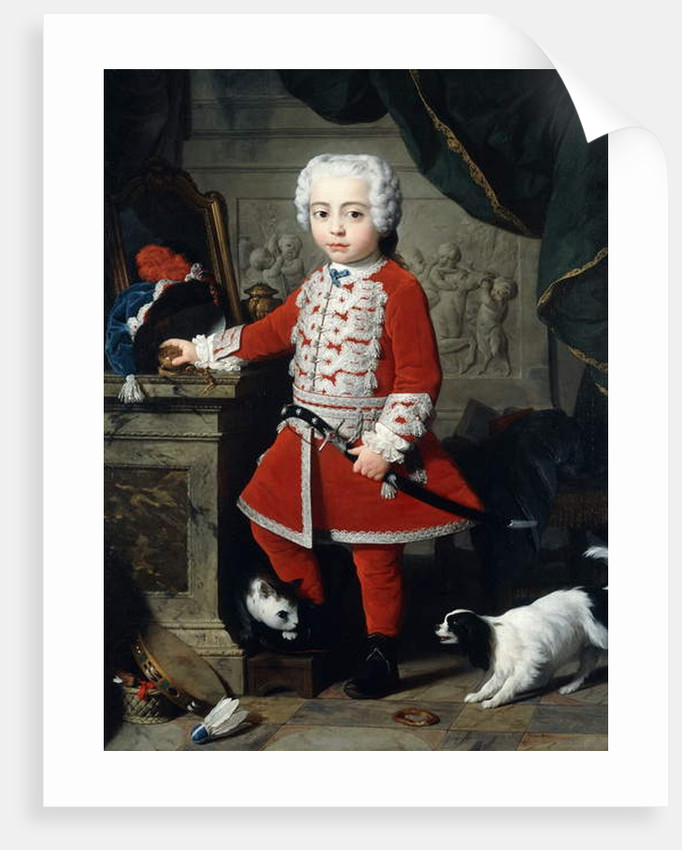 Portrait of a Young Boy in Hungarian Dress by Pierre Subleyras