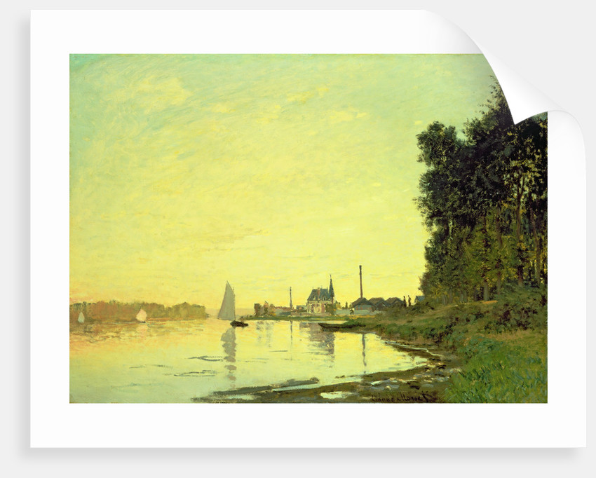 Argenteuil, at the End of the Afternoon, 1872 by Claude Monet