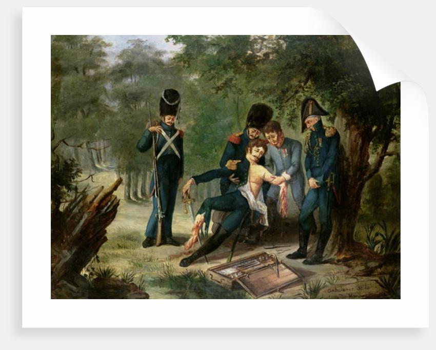 Doctor Larrey's ambulance at the battle of Hanau, 30th-31st October 1813 by French School