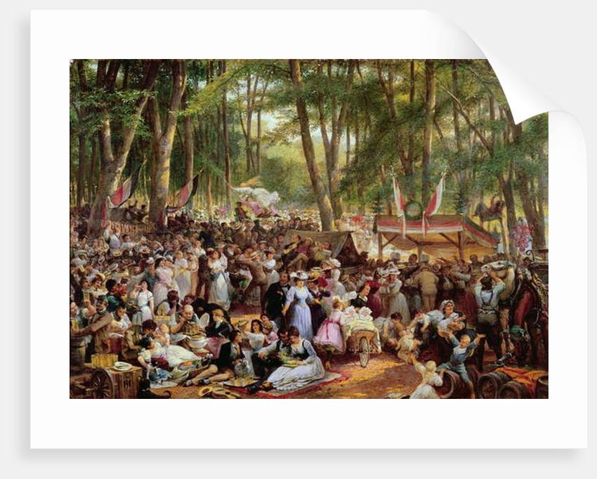 The Waldchestag in 1871 by Johann Heinrich Hasselhorst