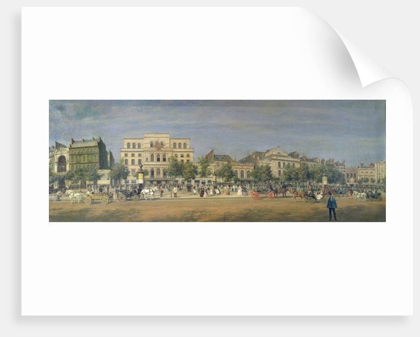 Panorama of Le Boulevard du Temple and its several theatres, c.1860 by Adolphe Martial Potemont