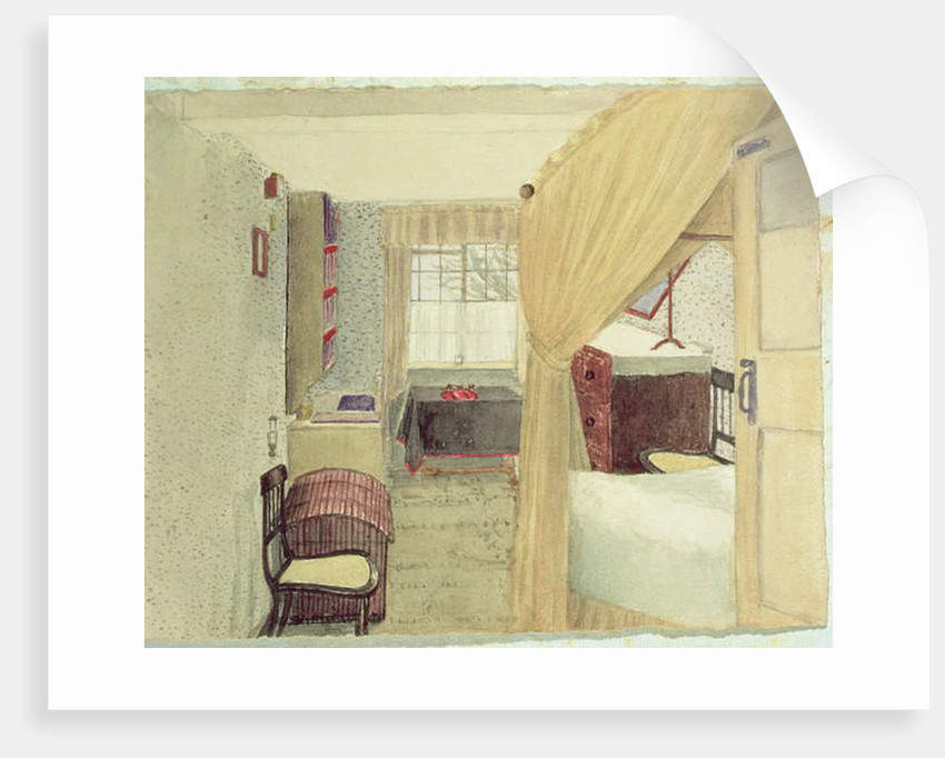 Bedroom Interior in Albany, New York, 1861 by American School