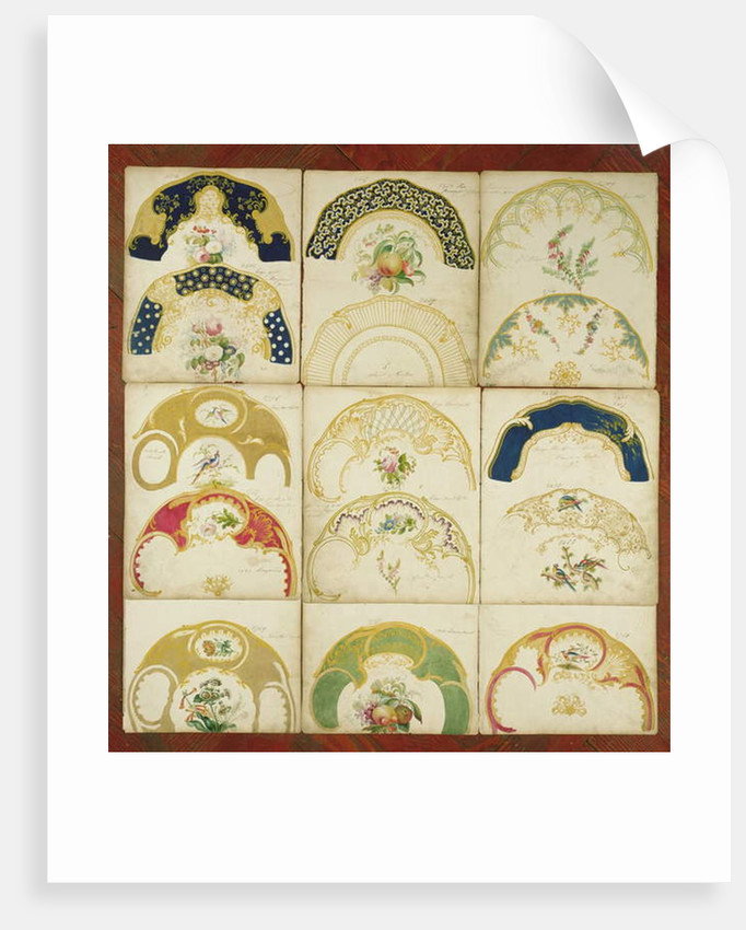 Designs for porcelain plates for the Daniel Factory, Staffordshire, c.1846 by English School