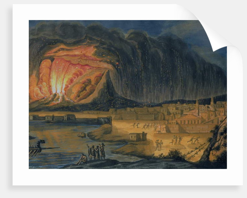 Vesuvius Erupting Near Naples, c.1815 by Italian School