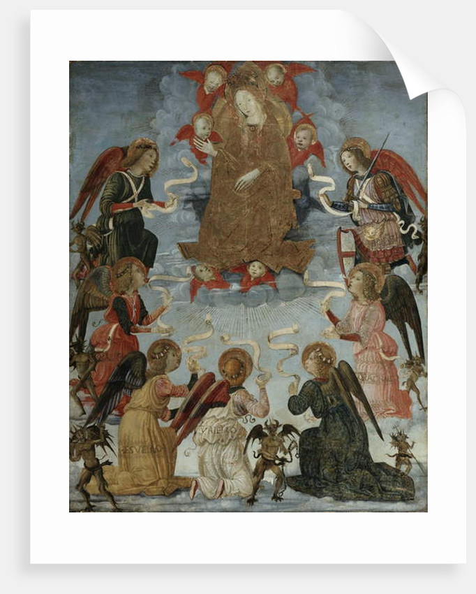 Virgin in Glory surrounded by Seven Archangels, c.1490-1500 by Master of Marradi
