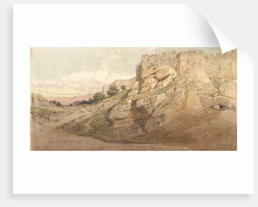 The Northern Wall of Jerusalem, 1859 by Carl Haag