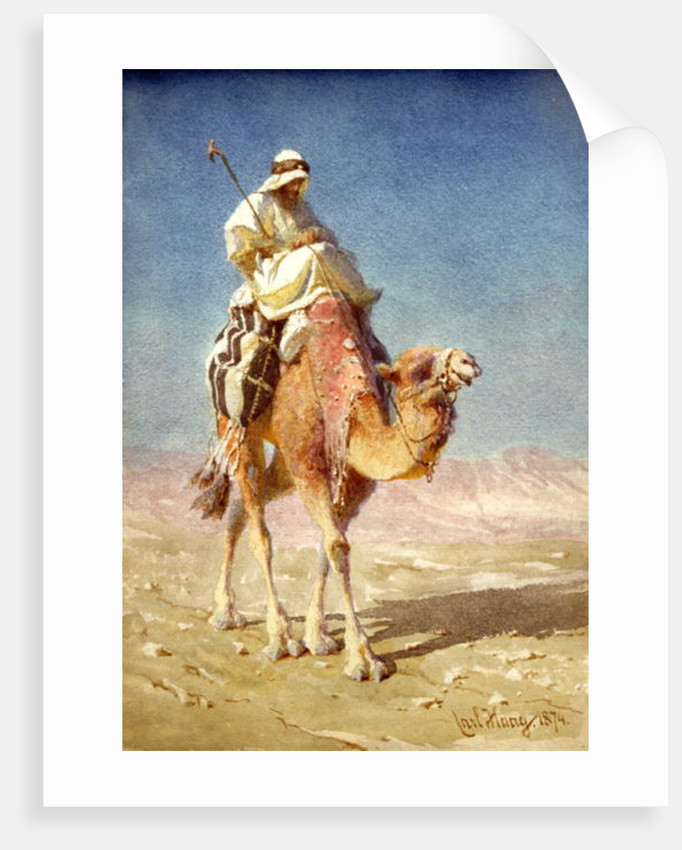 A Bedaween on a Camel's Back, 1874 by Carl Haag