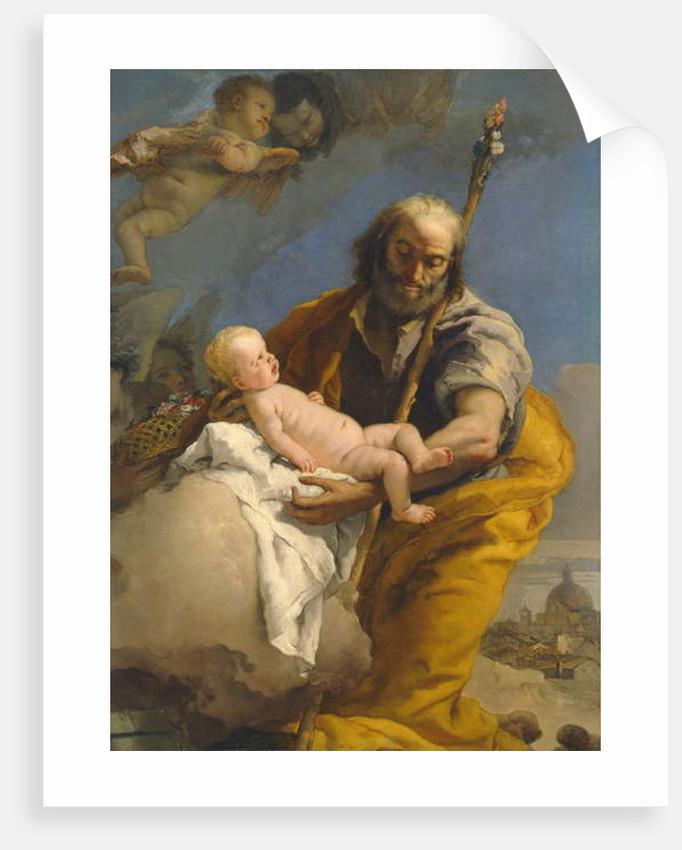 Saint Joseph and the Christ Child, 1767/69 by Giovanni Battista (1696-1770) Tiepolo