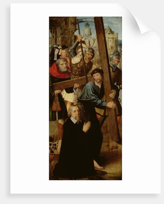 Christ Carrying the Cross, left wing from the Altar of St. Anthony, 1510-18 by School Netherlandish