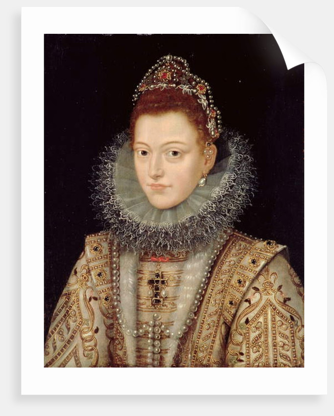 Portrait of Isabella Clara Eugenia c.1599 by Frans II Pourbus
