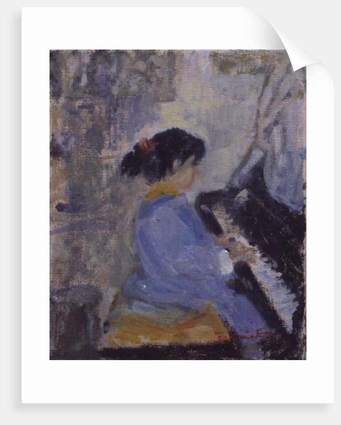 At The Piano, 1994 by Patricia Espir