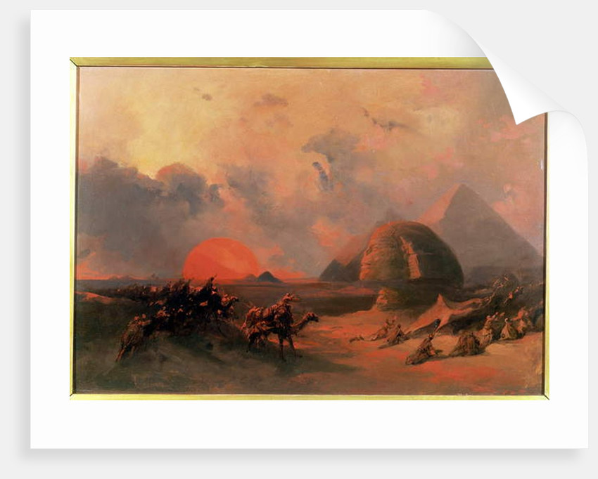 Recollection of the Desert on the Approach of the Simoon by David Roberts