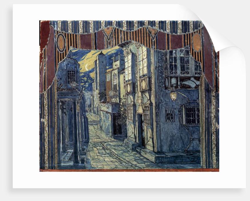 Set Design for 'The Barber of Seville', by Gioachino Rossini, 1924 by Aleksandr Jakovlevic Golovin