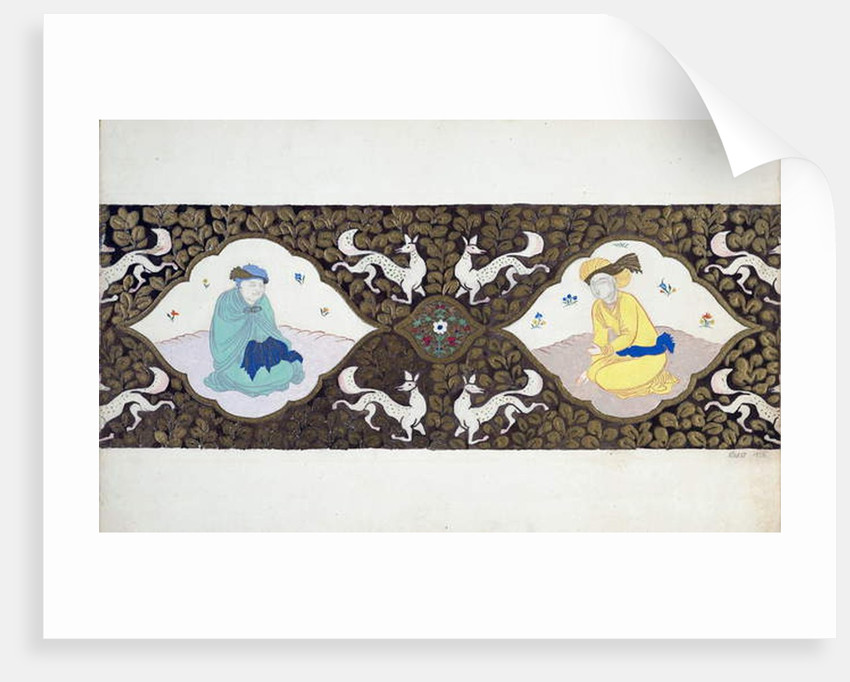 Preparatory design for the ballet Ishtar by Bohuslav Martinu, 1922 by Leon Bakst