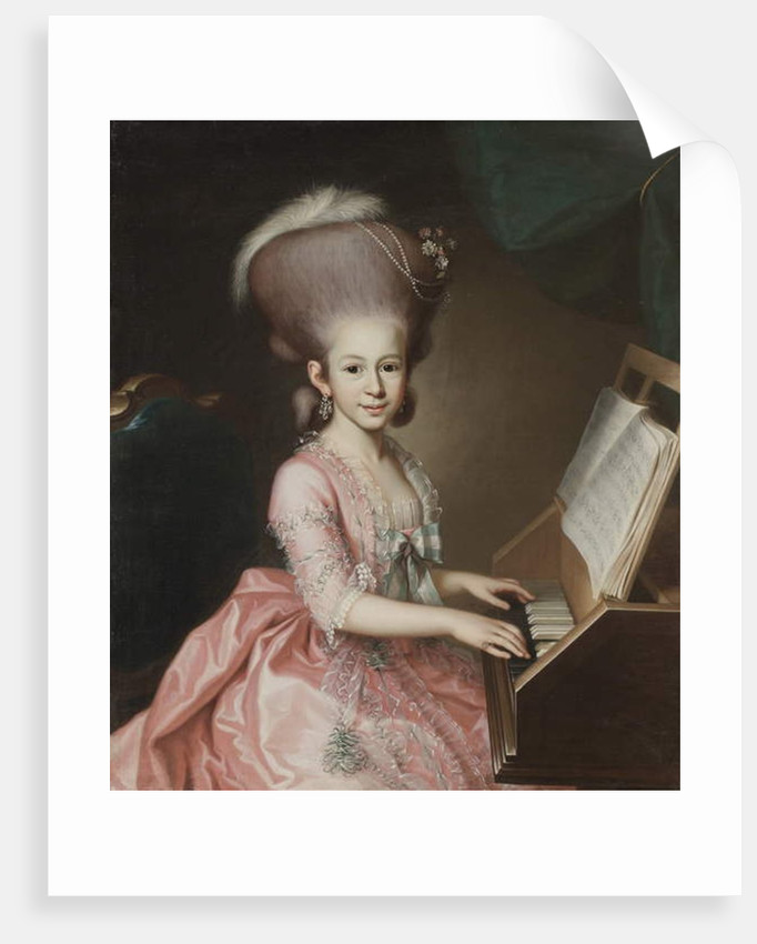 Portrait of a Young Lady at the Clavichord by Georg Anton Urlaub