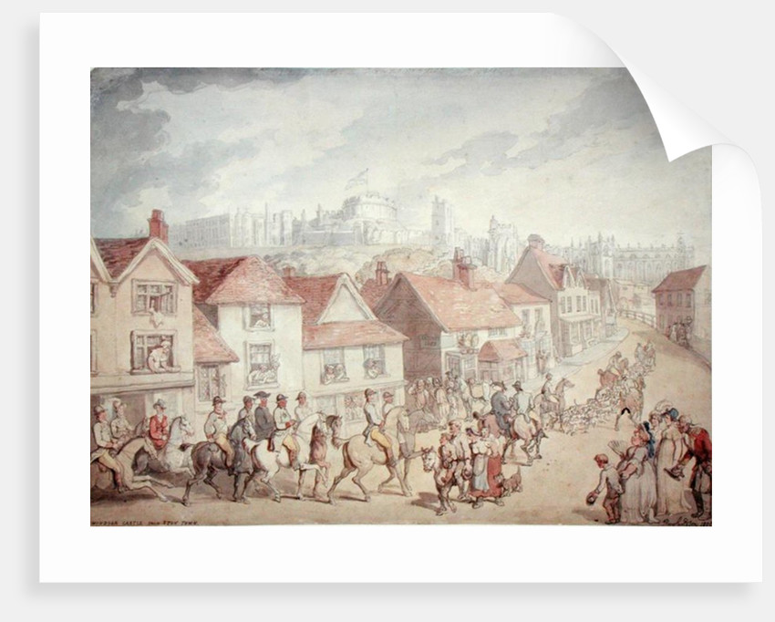 Windsor Castle from Eton Town, 1800 by Thomas Rowlandson