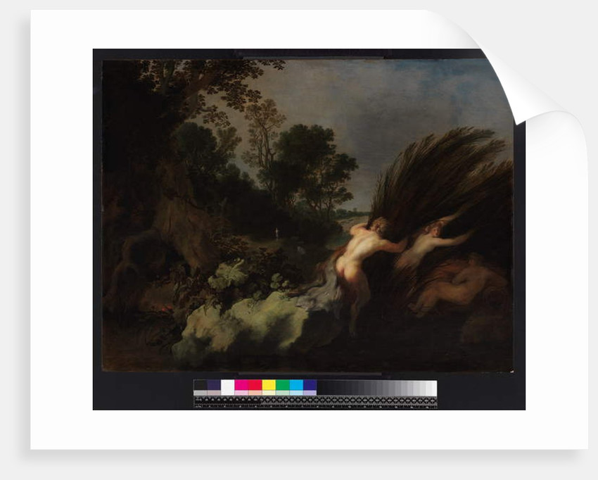 A wooded lanscape with Pan and Syrinx, before 1648 by Moyses or Moses Matheusz. van Uyttenbroeck