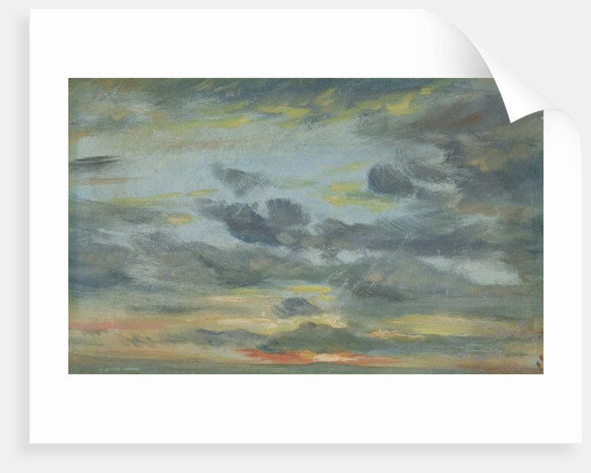 Sky Study, Sunset, 1821-22 by John Constable