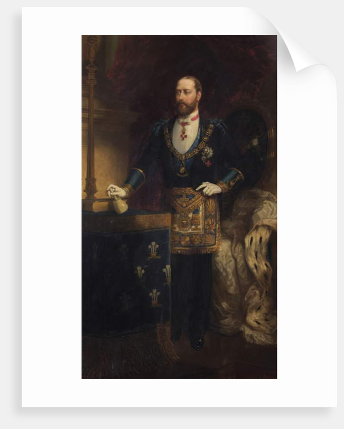 Albert Edward, Prince of Wales as Grand Master, 1885 by Chevalier Louis-William Desanges