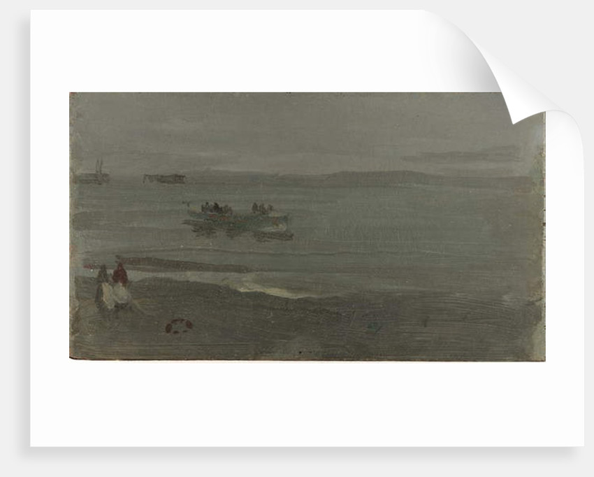 Blue and Silver - Boat Entering Pourville, 1899 by James Abbott McNeill Whistler