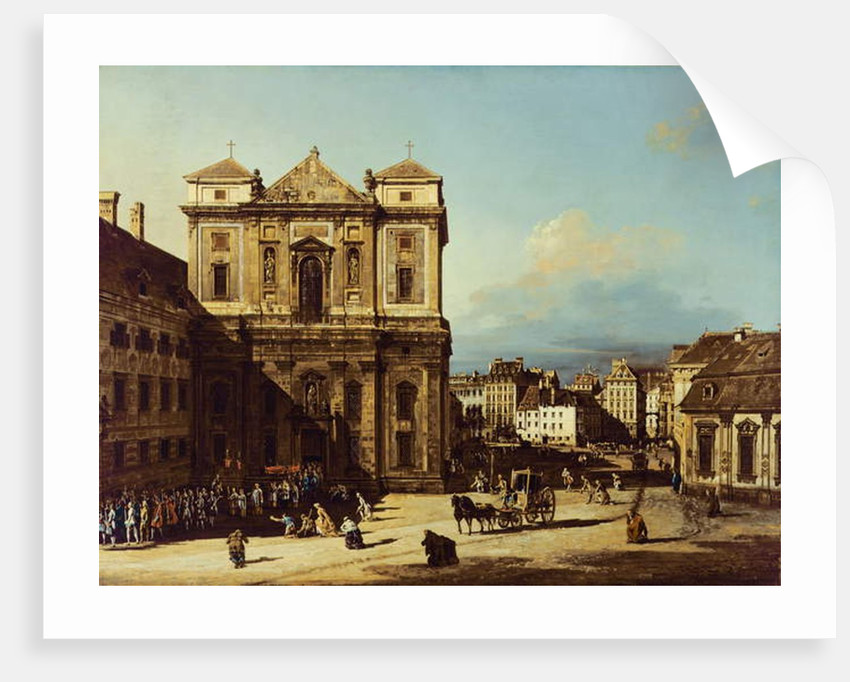 The Freyung in Vienna, view from the Northwest, c.1758 by Bernardo Bellotto