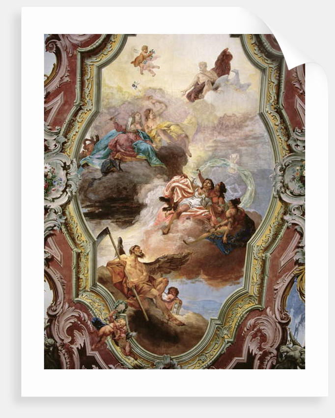 Mythological Scene with Jupiter, Juno, the Muses and Father Time by Italian School