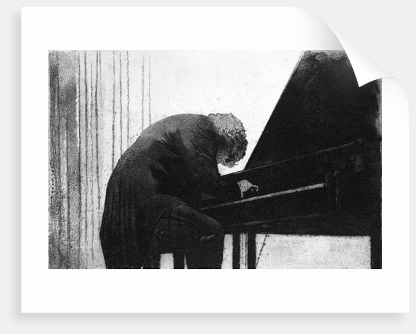John Ogdon at the Piano in the Great Hall, Exeter University, 1979 by George Adamson