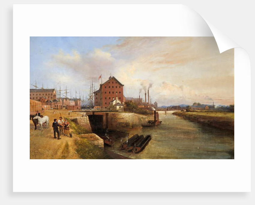 Gloucester Quay and Docks, 1878 by Edward Smith