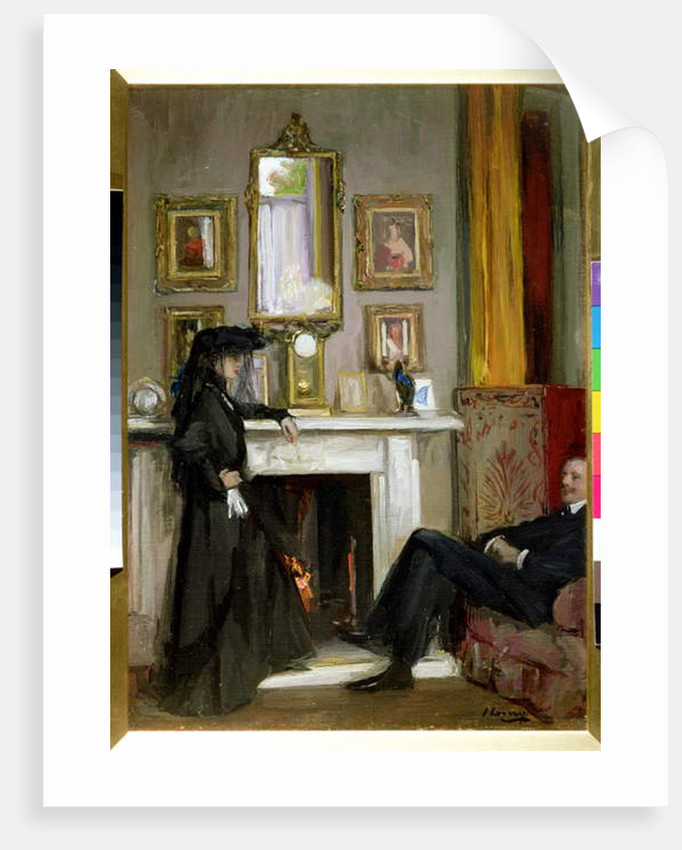 The Grey Drawing Room, Tangiers by John Lavery
