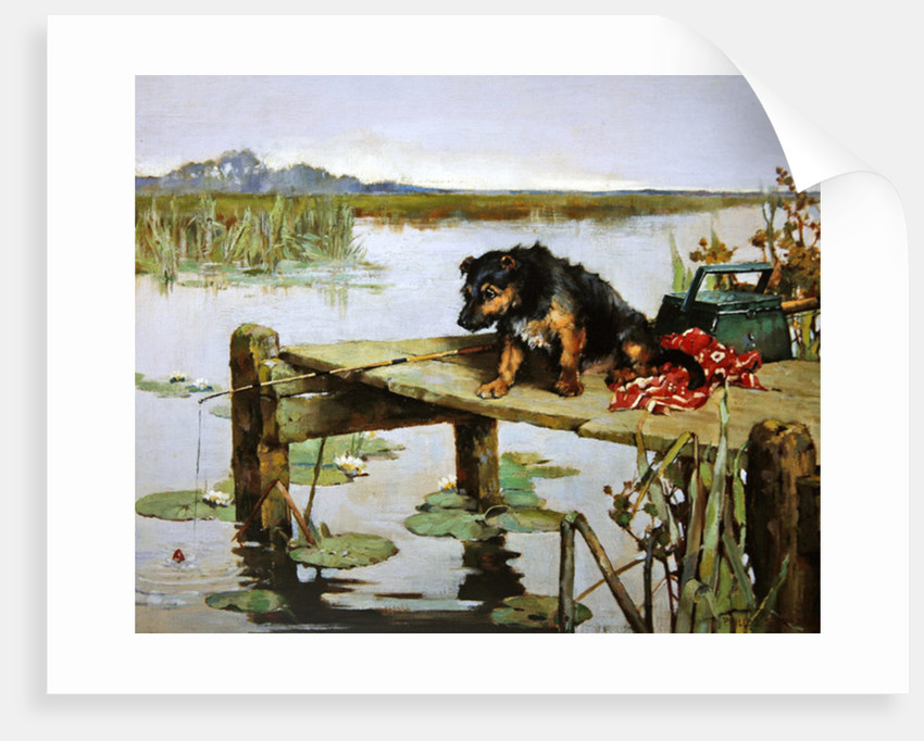 Terrier - Fishing, c.1890 by Philip Eustace Stretton