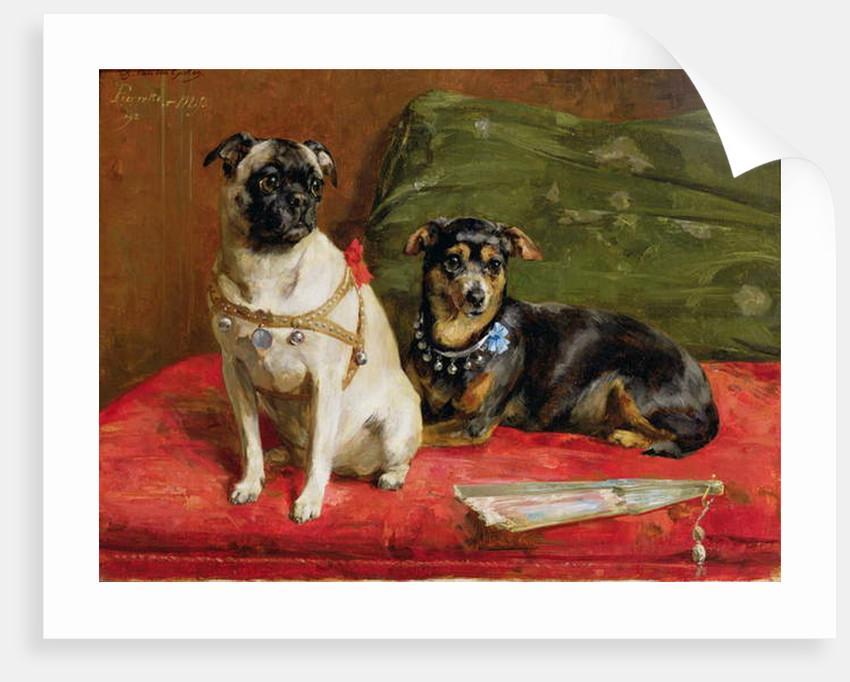 Pierette and Mifs, 1892 by Charles van den Eycken