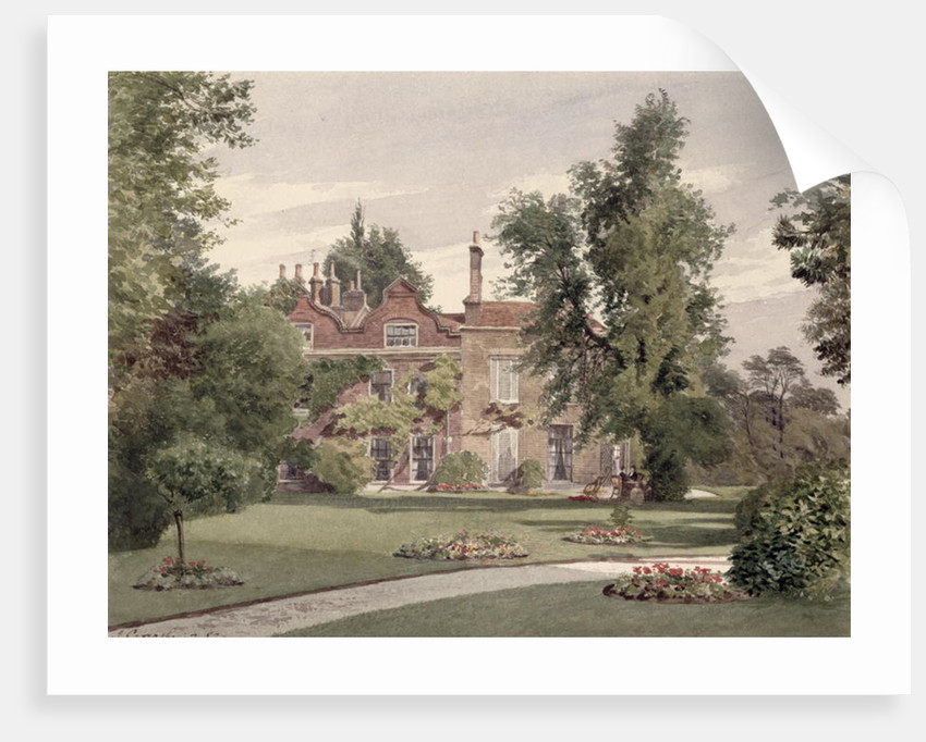 Side view of Raleigh House, Brixton Hill, Lambeth, 1887 by John Crowther