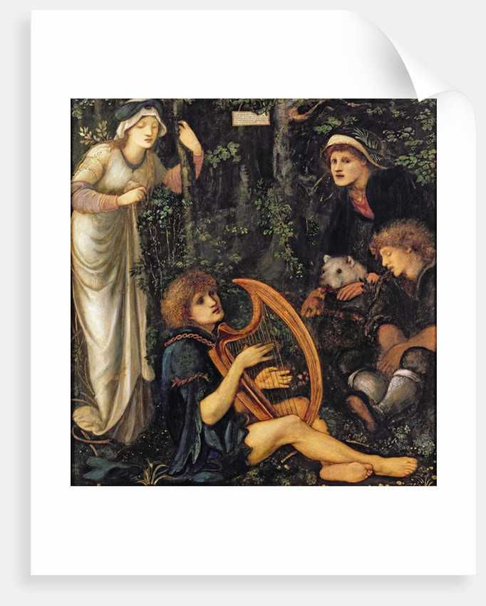 The Madness of Sir Tristram, 1862 by Edward Coley Burne-Jones