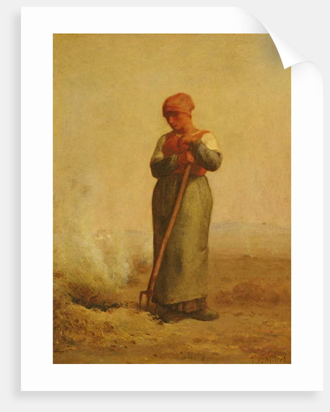 The Stubble Burner by Jean-Francois Millet