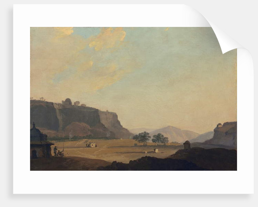 View near Fort Gwalior, India, c.1783 by William Hodges
