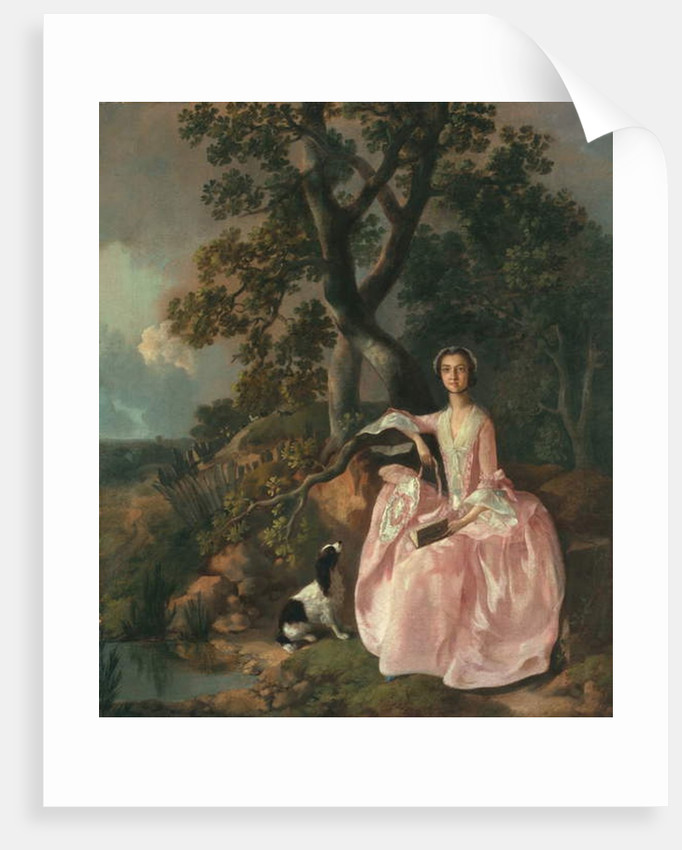 Woman with a spaniel, c.1749 by Thomas Gainsborough