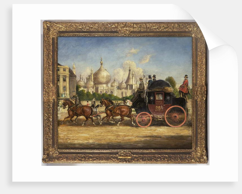 The London-Brighton mail coach in front of the Royal Pavilion, Brighton by Charles Cooper Henderson