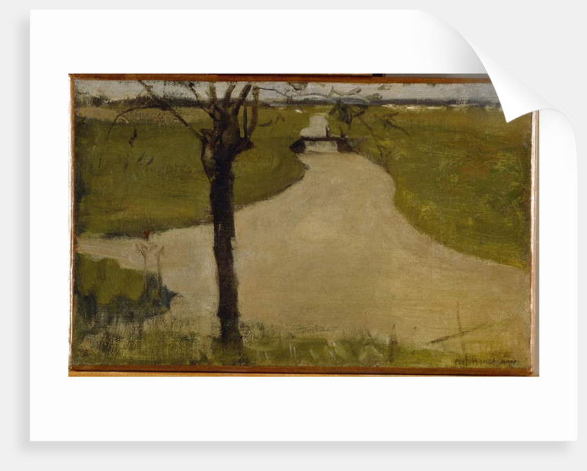 Irrigation Ditch with Young Pollarded Willow, Oil Sketch II, 1900 by Piet Mondrian