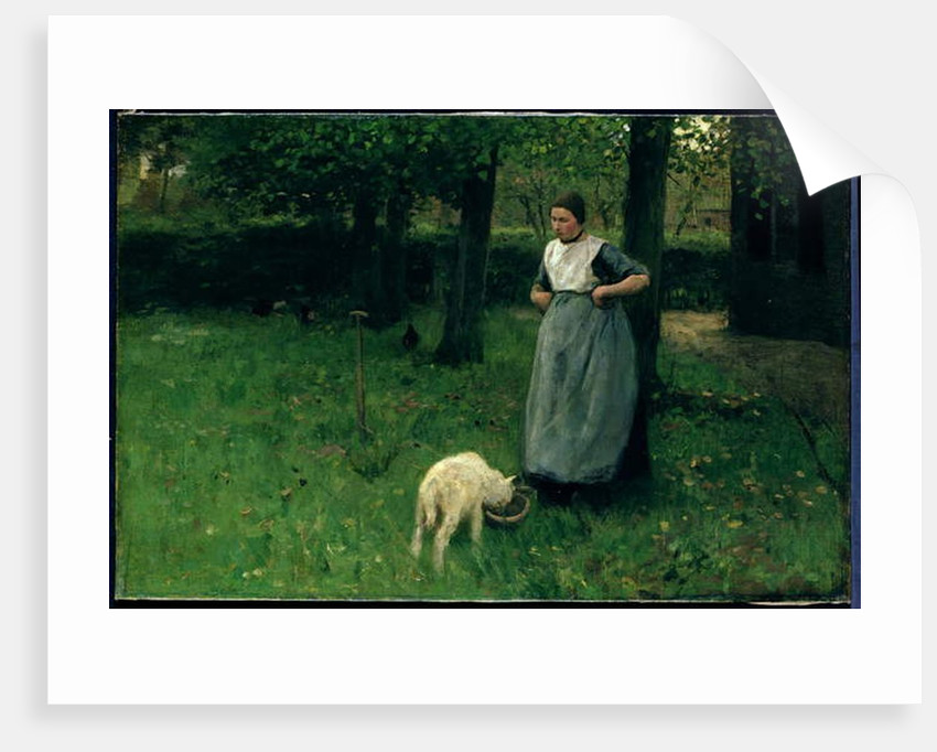 Larener Woman with a Goat, c.1885 by Anton Mauve