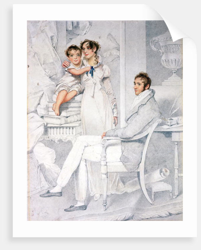 Mr and Mrs Richmond Thackeray and their son, William Makepeace Thackeray 1814 by George Chinnery