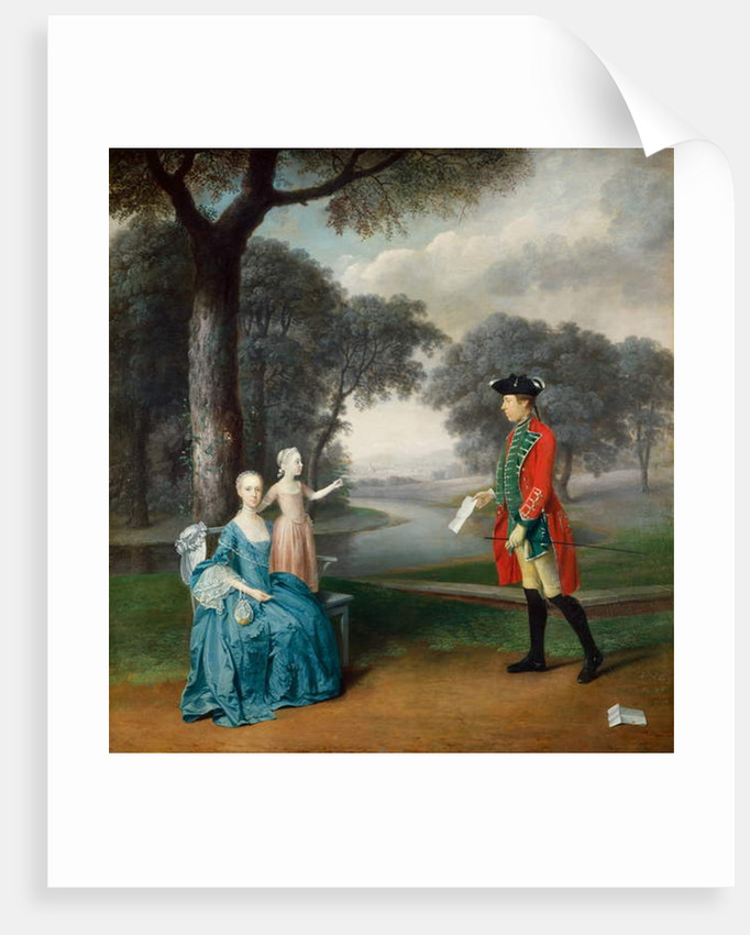 Francis Vincent, his wife Mercy, and daughter Ann, of Weddington Hall, Warwickshire, 1763 by Arthur Devis