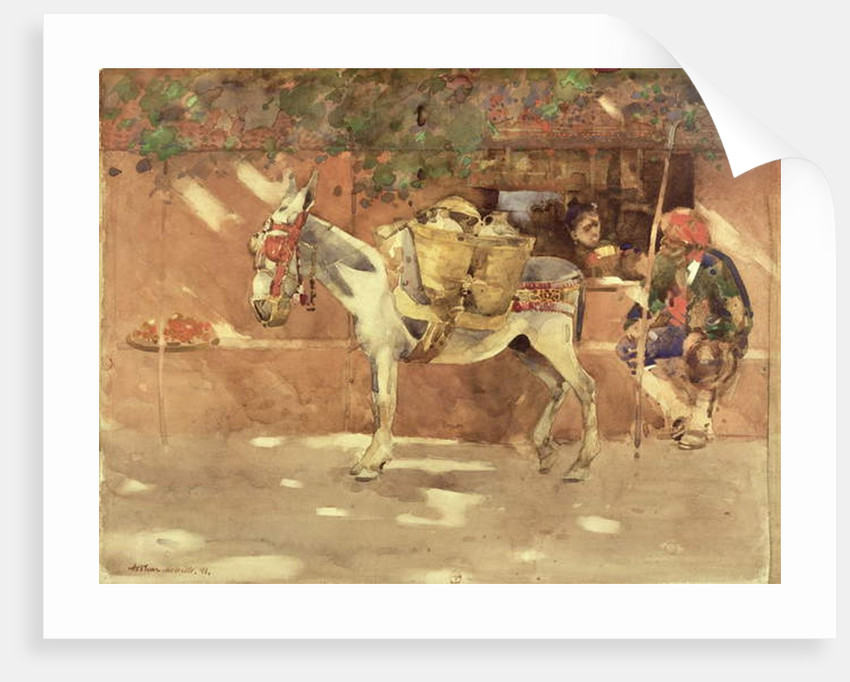 A Byway in Granada, 1891 by Arthur Melville