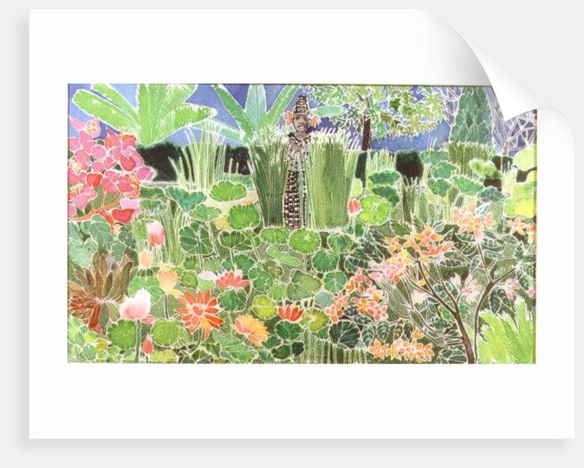 Lotus Pond, Ubud, Bali by Hilary Simon