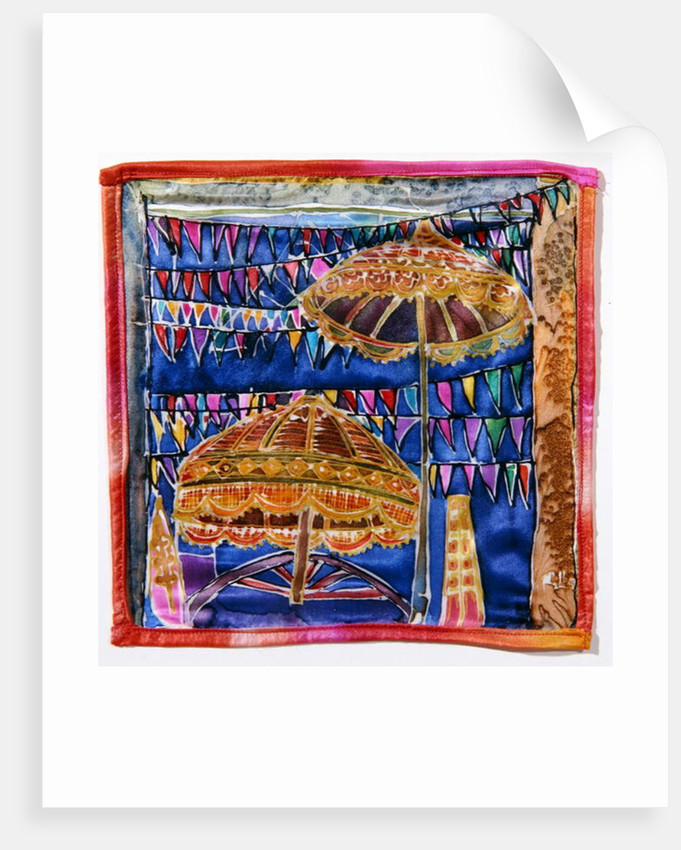 Balinese parasols by Hilary Simon