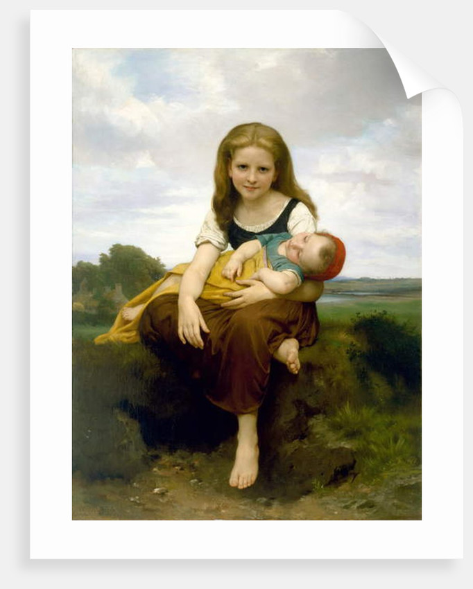 The Elder Sister, 1869 by William-Adolphe Bouguereau