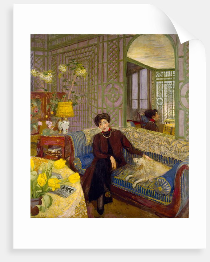 Portrait of Marcelle Aron, wife of Tristan Bernard 1914 by Edouard Vuillard