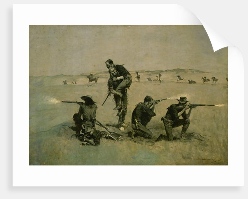 The Last Stand c.1896 by Frederic Remington