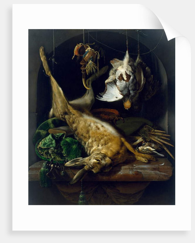 Still Life with a Dead Hare, Partridges and Other Birds in a Niche, c.1675 by Jan Weenix